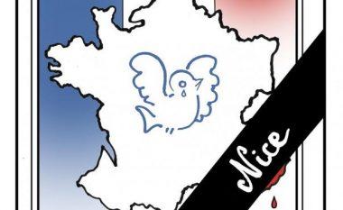 Karikaturat pas sulmit terrorist në Nice të Francës (Foto)