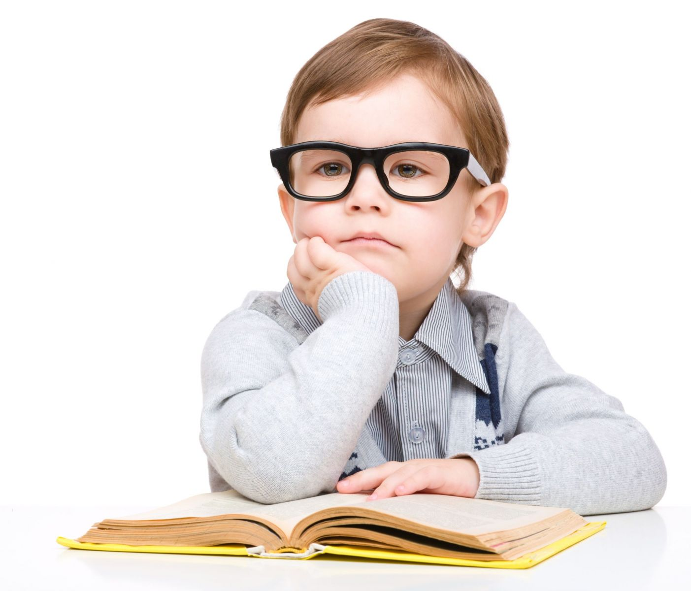 Boy With glasses reading(1)