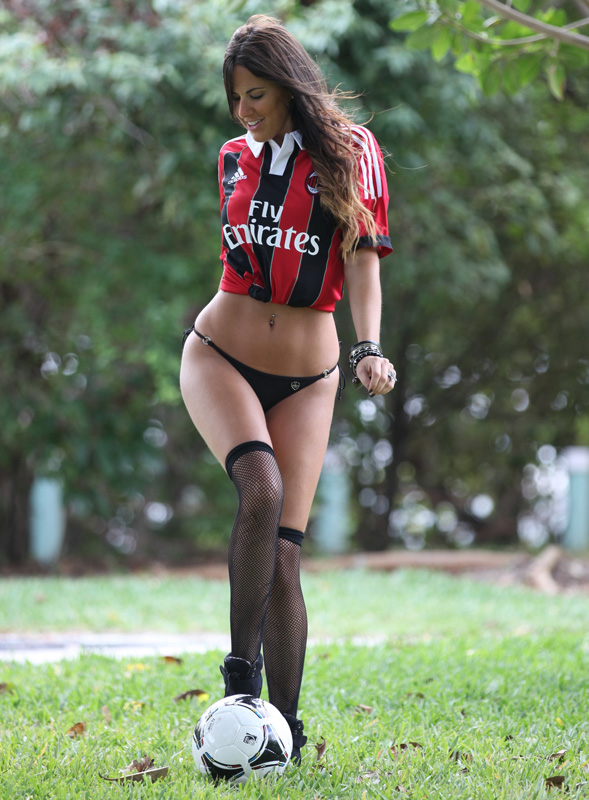 "**File Pictures from 2013/14** Italian glamour model Claudia Romani is seen in file photos around Miami Beach, FL. Claudia is undergoing examinations to become a certified football referee, with hopes of being a future Italian Serie A ref. She was quoted telling the press ""Running around on the pitch with all those players and calling the shots is just an irresistible opportunity,"". Pictured: Claudia Romani Ref: SPL954955 200215 Picture by: Splash News Splash News and Pictures Los Angeles: 310-821-2666 New York: 212-619-2666 London: 870-934-2666 photodesk@splashnews.com"