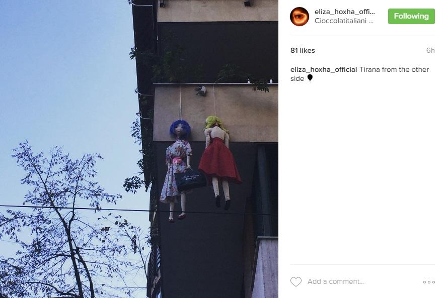 Kjo është pamja që iu servir këngëtares Eliza Hoxha. Foto nga Instagram Story.