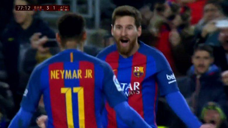Messi shënon ndaj Bilbaos nga gjuajta e lirë, a do jetë ky goli i kualifikimit? (Video)