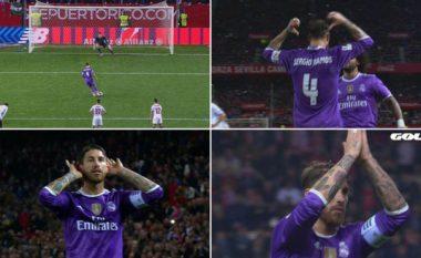 Në Sevillë kanë harruar se Ramos ka qenë lojtar i tyre, fotot që tregojnë momentet aspak të këndshme për spanjollin (Foto)
