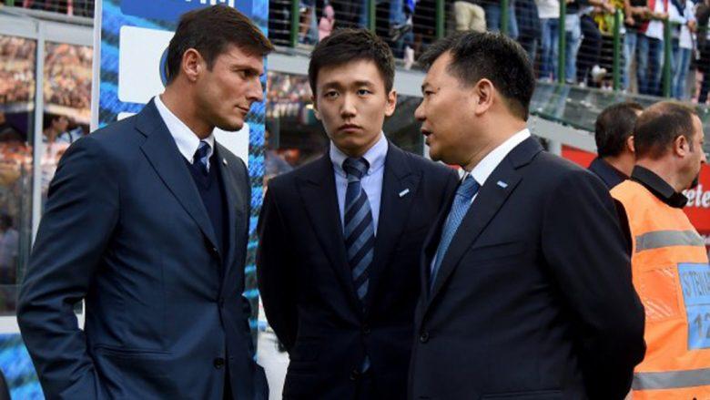 Zanetti së bashku me pronarët e Inter, Jindong dhe Steven Zhang