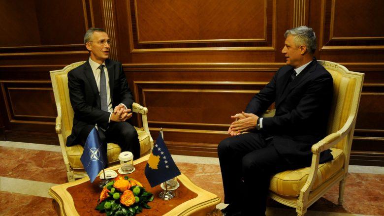 Thaçi ia konfirmon Stoltenbergut: Ushtria e Kosovës do të formohet në përputhje me Kushtetutën dhe ligjet e Kosovës