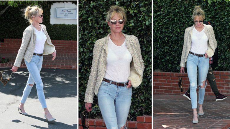 Si t'i vishni xhinset e ngushta në të pesëdhjetat: Kombinimi i thjeshtë, por elegant i Melanie Griffithit!