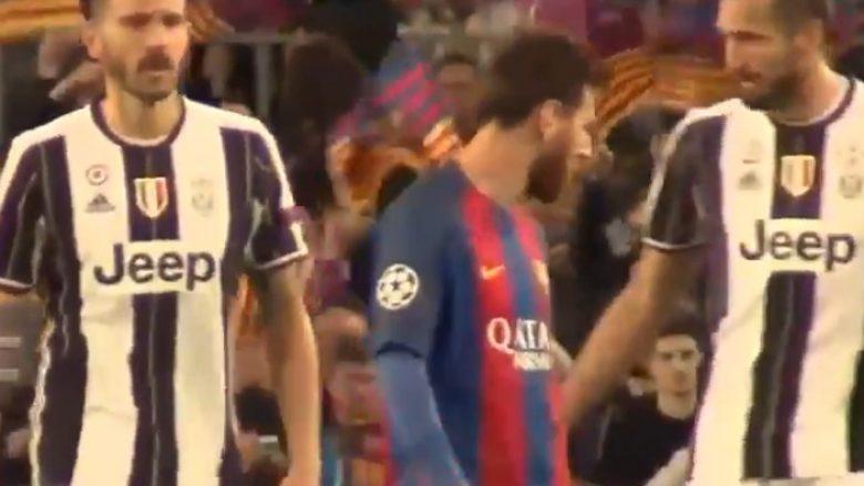 Bonucci e mori fanellën e Messit, por u desh ta fitojë garën me Chiellinin (Video)