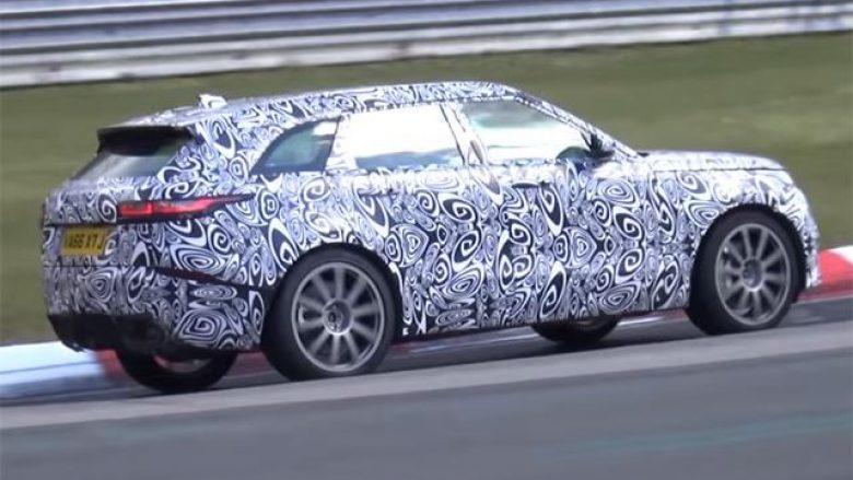 Range Rover është duke e testuar modelin e ri Velar në pistë (Video)