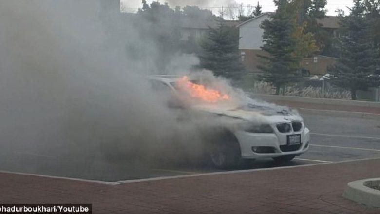 """Pronarët e veturave BMW në alarm, dhjetëra të tilla të përfshira nga një """"zjarr misterioz"""" (Foto/Video)"""