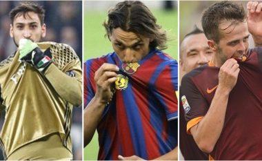 Yjet e futbollit që e puthën fanellën e klubit, por që u larguan pas një viti (Foto)