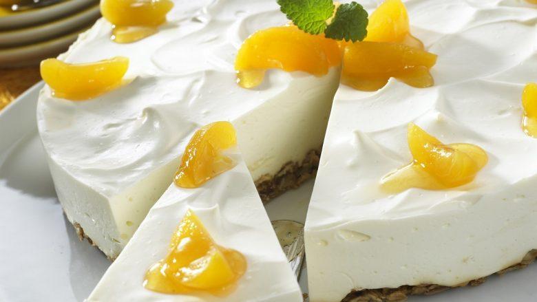 Cheesecake me Exquisa krem djathi dhe kajsi, e përkryer për stinën e verës (Foto)