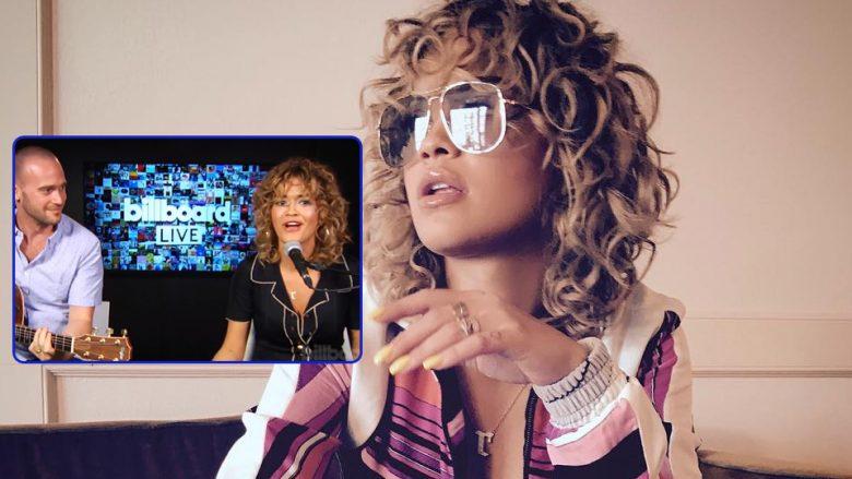 """Dëgjoni versionin akustik të """"Your Song"""" që Rita e kombinon me këngën e """"Backstreet Boys"""" (Video)"""