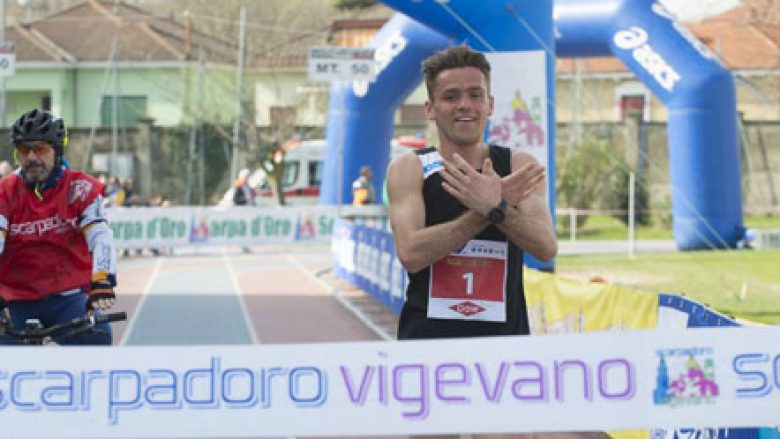 """Në finish me """"shqiponjë"""", Nikolli fiton medaljen e artë në Serbi"""
