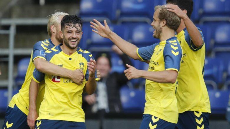 Debutim ëndrrash për Halimin, shënon gol të jashtëzakonshëm në fitoren e Brondbyt (Video)