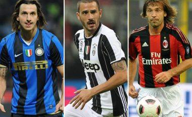 Bonucci e kompleton numrin e 10 'tradhtarëve' që luajtën për Juventusin, Milanin dhe Interin, secili më super yll se tjetri (Foto)