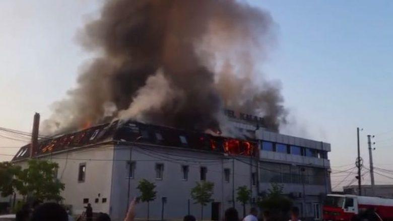 """Lokalizohet zjarri në """"Hotel Kalaja"""" (Foto/Video)"""