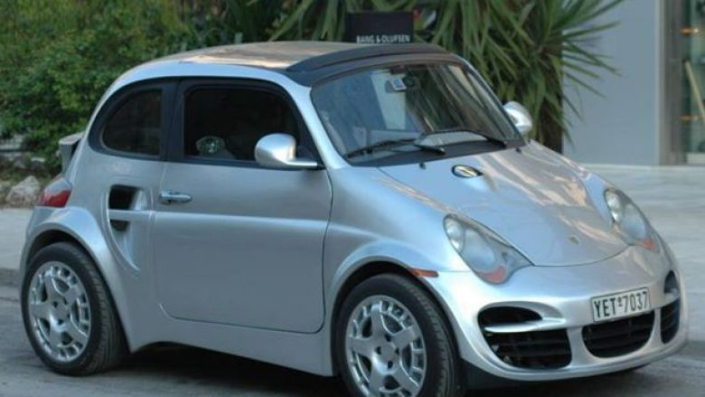 """Rinovimi"" i çuditshëm: Fiat 500 që duket sikur Porsche 911 Turbo (Foto)"