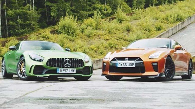 Krahasimi i veturave Nissan GTR dhe Mercedes GT R, që ndajnë të njëjtin emër (Video)