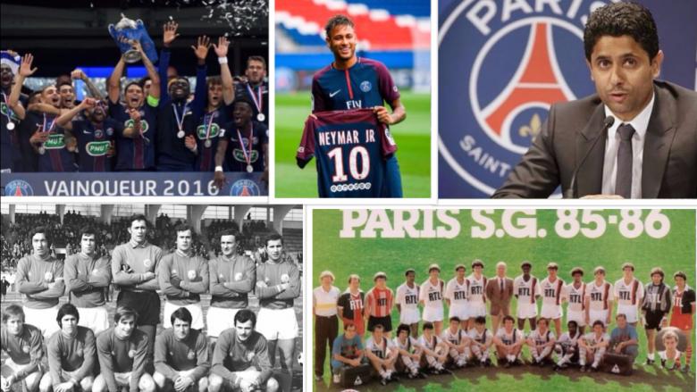 Historia interesante e PSG-së: U formua para 47 vitesh duke u bashkuar dy skuadra, është klubi më i trofeshëm francez dhe thyen rekordin botëror të transferimeve (Foto)