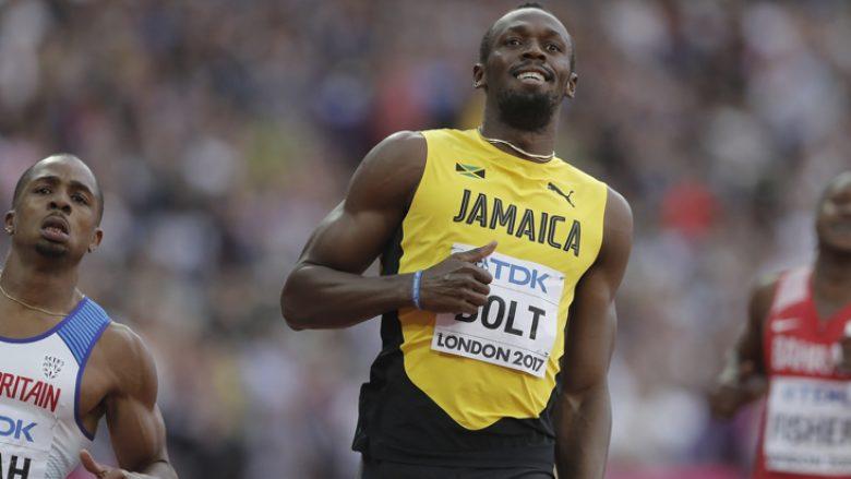 Bolt nuk doli i pari në gjysmëfinale, por kualifikohet në finale