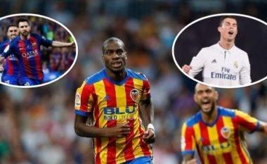Gazetari e pyet Kondogbian për mungesën e lojtarit më të mirë në botë, ai tha se nuk e dinte që Messi luante për Real Madridin
