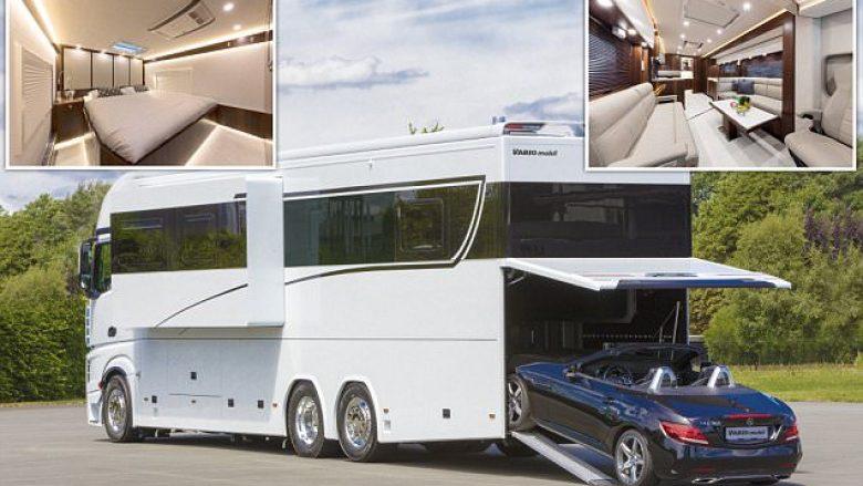 Garazh, dhomë gjumi luksoze, kuzhinë me banak e pajisje tjera elektronike: Brenda rulotës një milion dollarëshe (Foto)