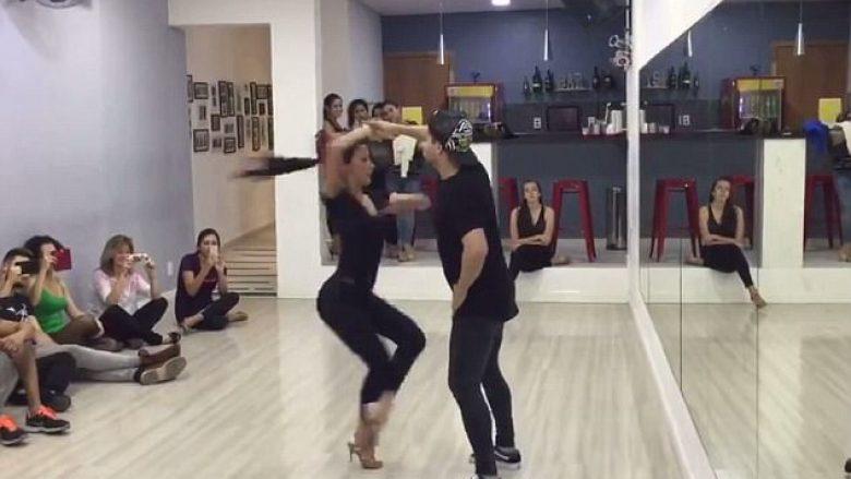 Kësi valltare nuk keni parë kurrë, sillet 100 herë pa ndërprerë brenda 45 sekondave (Video)