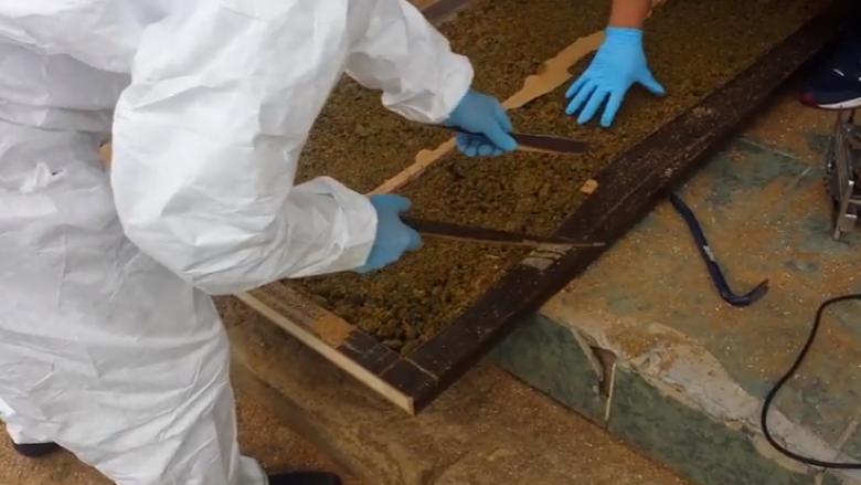 Momenti kur Policia e Kosovës gjen 135 kilogramë drogë në brendësi të dyerve (Video)