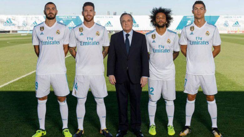Perez pozon me kapitenët e Real Madridit, Benzema është risia