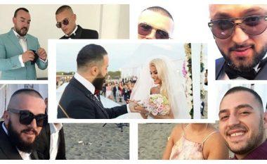 Babastars martojnë liderin e tyre, të gjithë elegantë në dasmën e Getit (Foto)