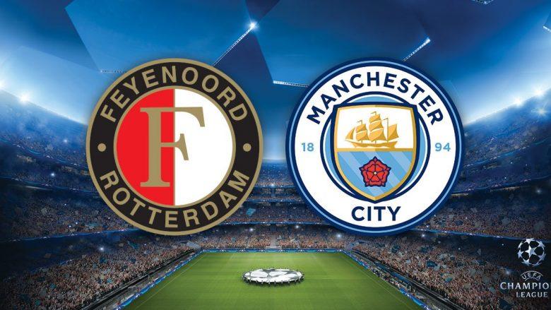 Feyenord – Man City: Formacionet zyrtare