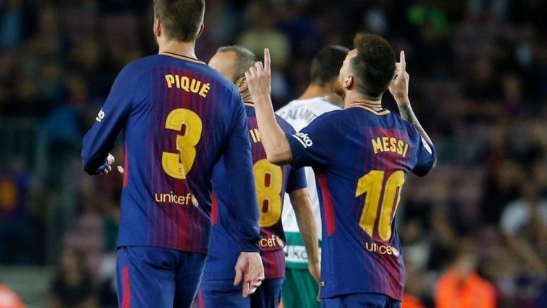 Messi shënon dy herë brenda tre minutave, kompleton het-trikun (Video)