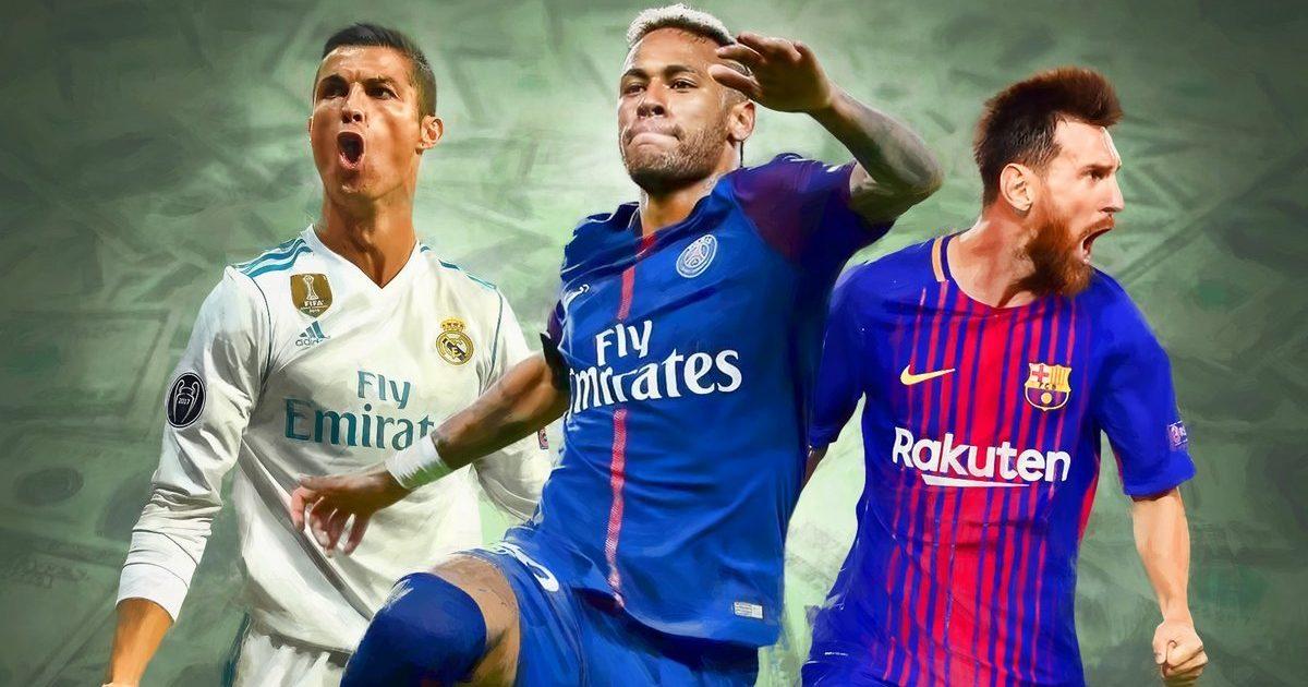 Rroga javore e Neymarit  Ronaldos dhe Messit