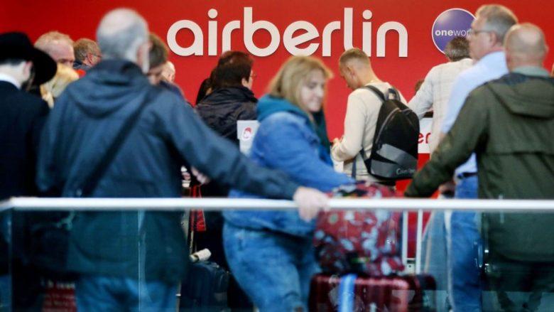 """Anulohen rreth 100 fluturime të Air Berlin, sepse pilotët u lajmëruan si """"të sëmurë"""""""