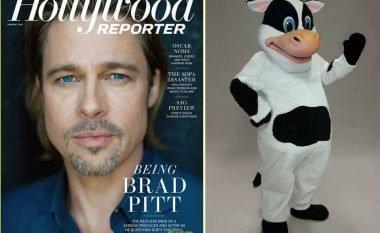 Brad Pitt vishej si maskotë për të fituar para në rininë e tij (Foto)