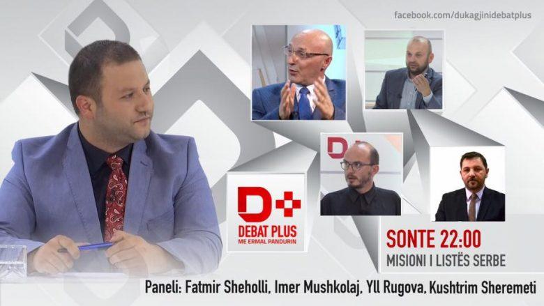 """""""Debat D-Plus"""" në RTV Dukagjini: """"Misioni i Listës Serbe"""" (Video)"""