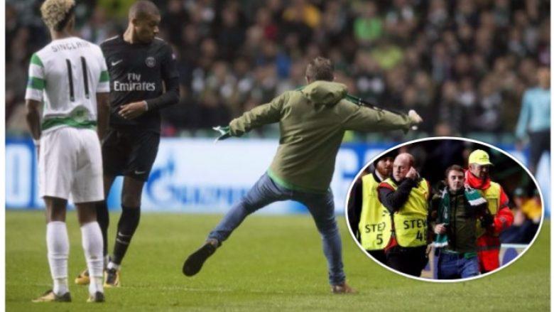 Tifozi i Celticut futet në fushë dhe tenton ta godas Mbappen (Foto)