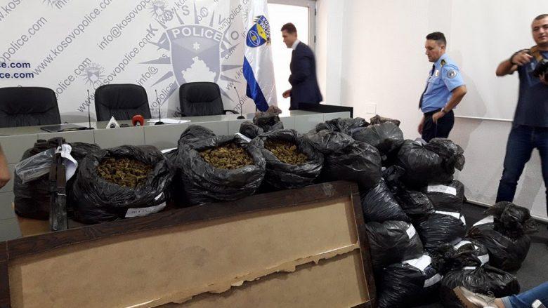 """Operacioni """"Çelësi"""", konfiskohen 135 kg marihuanë"""