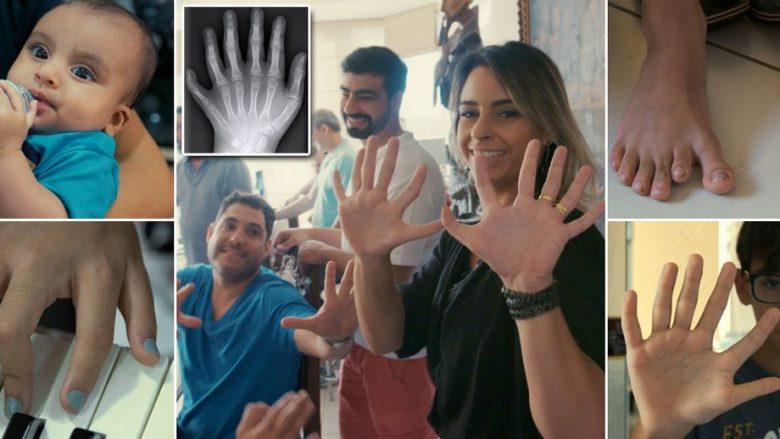 Familja 14 anëtarëshe që ka nga gjashtë gishta, i urojnë mirëseardhje në këtë botë anëtarit më të ri të familjes që ka të njëjtin sindromë gjenetike (Foto/Video)