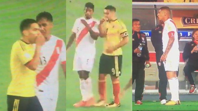 Lojtarët e Kolumbisë dhe Perusë u pajtuan që të 'eliminojnë' Kilin nga Kupa e Botës, gjithçka e sinkronizuar nga Falcao (Video)