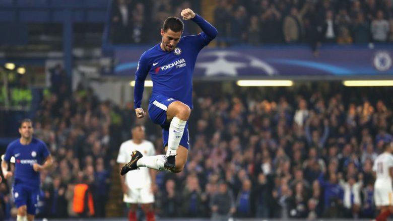 Vlerësimi i lojtarëve në ndeshjen Chelsea-Roma: Hazard pa konkurrencë (Foto)