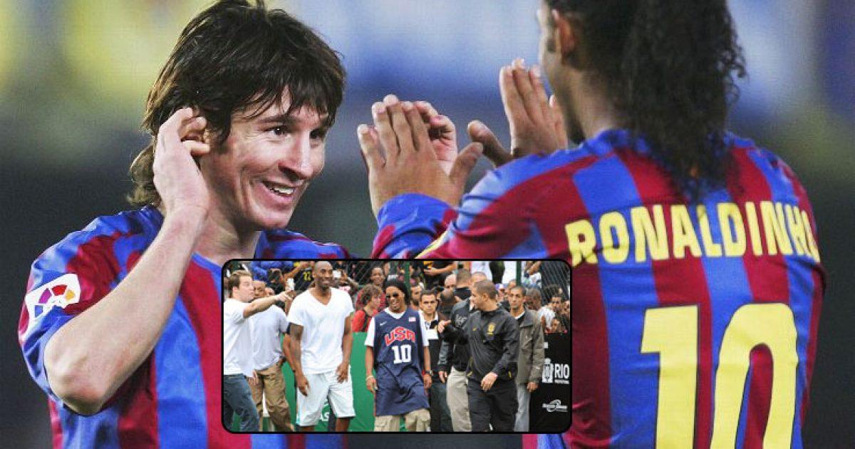 Bryant rikujton momentin kur Ronaldinho ia prezantoi Messin si 17 vjeçar  Njihu me djaloshin që do të bëhet lojtari më i mirë i të gjitha kohërave  Foto Video