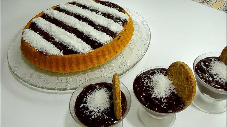 Tortë me çokollatë dhe kokos (Video)