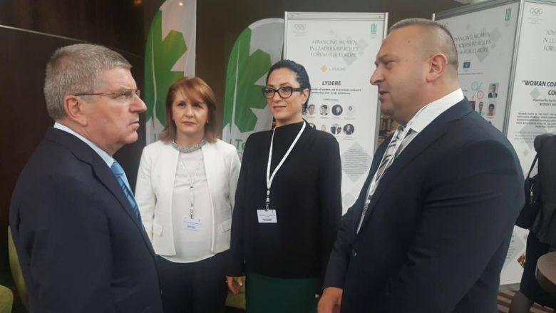 Presidenti i KON-it, Thomas Bach shqetësohet për shëndetin e Majlinda Kelmendit