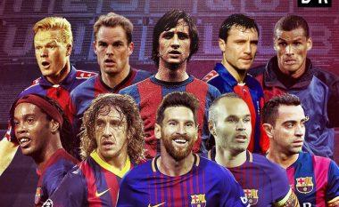 Barcelona 118 vite histori – Ky është formacioni me lojtarët më të mirë që kanë luajtur për katalunasit (Foto)
