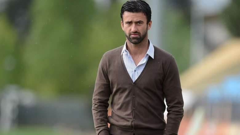 FLORENCE, ITALY - APRIL 12:  Sport Manager Christian Panucci looks on during a Palermo training session at Coverciano on April 12, 2012 in Florence, Italy.  (Photo by Tullio M. Puglia/Getty Images)