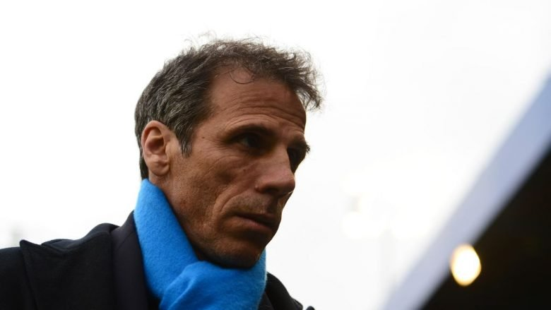 BIRMINGHAM, UNITED KINGDOM - APRIL 17: Gianfranco Zola, Manager of Birmingham City during the Sky Bet Championship match between Birmingham City and Burton Albion at St Andrews on April 17, 2017 in Birmingham, England. (Photo by Harry Trump/Getty Images)