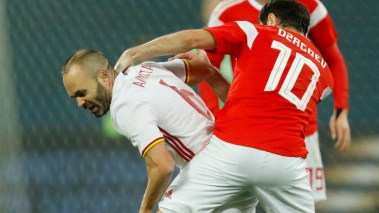 Në ndeshjen Rusi-Spanjë, mesfushori Glushakov hyri në portë në minutat e fundit (Video)