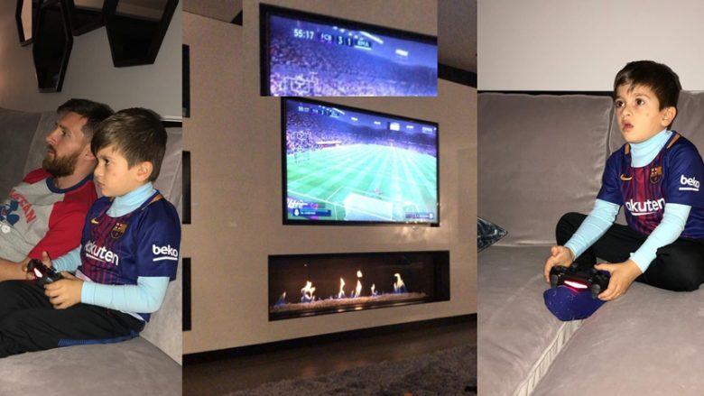Kur Messi luan me Real Madridin kundër djalit të tij Thiagos, humb në PlayStation derbin El Clascico (Foto)