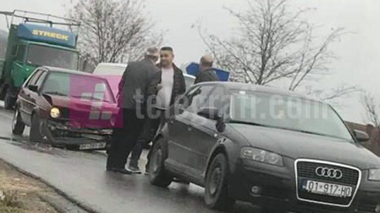 Aksident trafiku në Podujevë, nuk raportohet për të lënduar (Foto)