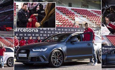 Audi shpërblen edhe futbollistët e Barcelonës: Messi dhe Suarez zgjedhin modelin e njëjtë, Ter Stegen dhe Rakitic fitojnë garën e shpejtësisë (Foto)